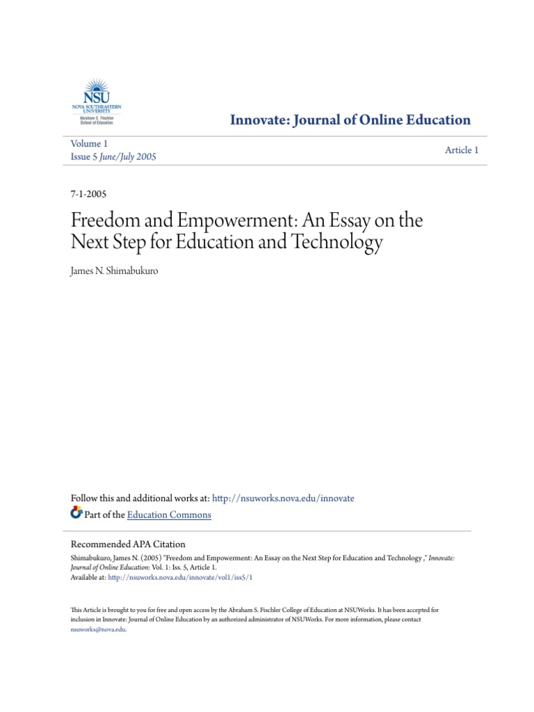Sample Apa Essay Paper Freedom And Empowerment An Essay On The Next Step For Education  Tutor   Expert Research Paper Essay also Health Is Wealth Essay Freedom And Empowerment An Essay On The Next Step For Education  Best English Essay