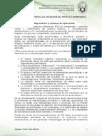 Metodologia Para Los Estudios de Impacto Ambiental