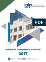 1º. Informe de transparencia municipal del IAIP