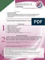 Proceso de Matrícula Virtual en la UPeU