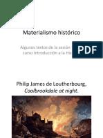 Sesión 11. Materialismo histórico