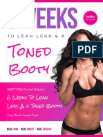 6 Weeks to Lean Legs a Toned Booty Free eBook by Rachel Dillion Updated