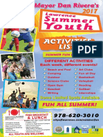 Mayor Rivera's Summer Youth Activities List 2017