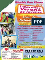 Alcalde Rivera Lista de Actividades de Verano para Jóvenes de Lawrence 2017
