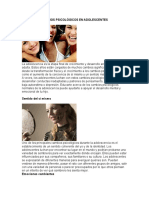 Cambios Psicológicos en Adolescentes