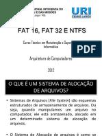 Ntfs, Fat16 e Fat32 - PDF