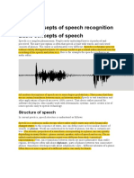 Basic Concepts of Speech Recognition