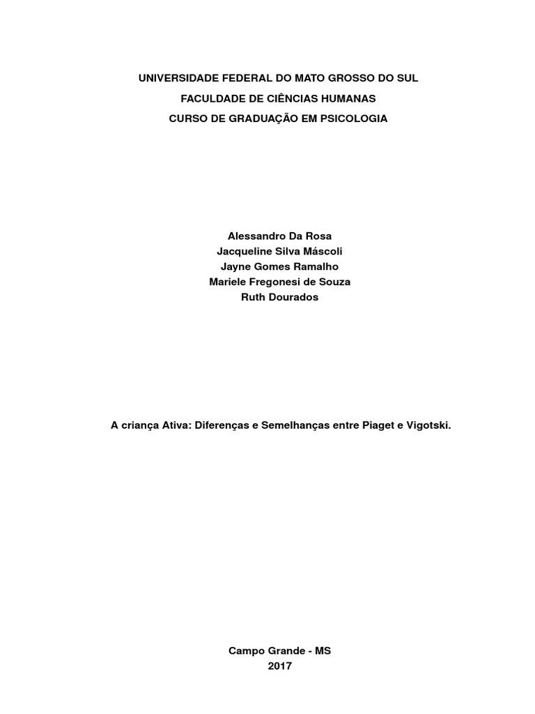 c435f75df41 A criança ativa  Diferenças e semelhanças entre Piaget e Vigotski