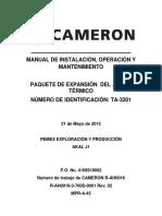 Manual de Operacion paquete aceite termico