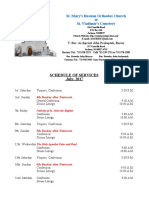 7. Schedule of Divine Services - July, 2017