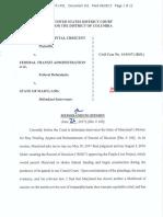 Purple Line Lawsuit - District Court Stay request denial