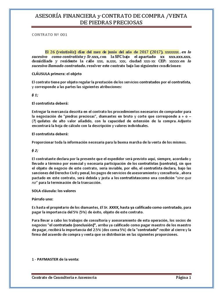 Excepcional Plantilla De Contrato De Consultoría De Negocios ...