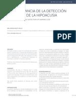 Hipoacusia Detección Temprana