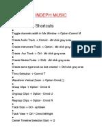 Protools III Shortcuts