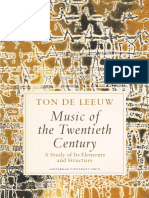 Ton de Leeuw, Music of the Twentieth Century
