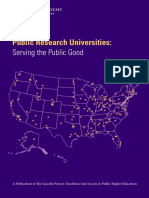Public Research Universities Serving the Common Good