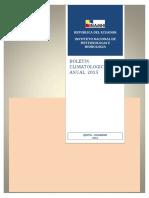 Boletín Climatológico Anual 2015