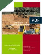 Informe Del Proyecto 1 y 2 (Mov. Tierra)