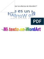 Dónde Están Los Efectos de WordArt
