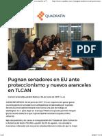 26-06-17 Pugnan Senadores en EU Ante Proteccionismo y Nuevos Aranceles en TLCAN - Quadratín CDMX