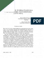 La Región de Puebla y Tlaxcala y La Economía Novohispana, Garavaglia y Grosso