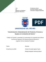 Sanhueza_rCaracterización y Estandarización de Productos, Procesos y
