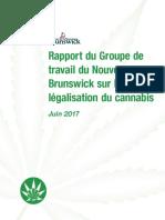 Rapport du Groupe de travail du Nouveau-Brunswick sur la légalisation du cannabis