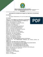 TRE BA Resolucao Administrativa 01 2017 Regimento Interno Do Tribunal