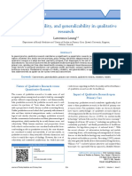 Validity, Reliability, And Generalizability in Qualitative (3)