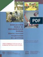 Educación para el desarrollo rural