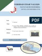 Informe de Hidrologia Uso Del Banco Hidraulico
