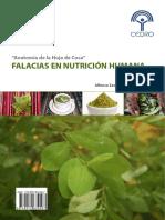 """""""Anatomía de la Hoja de Coca"""" Falacias de la nutrición humana"""