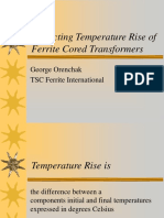 Predicting Temperature Rise of Ferrite Cored Transformers