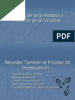Definicion de Hipotesis