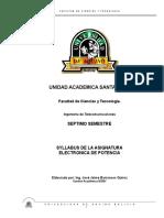 Syllabus Electronica de Potencia Ok