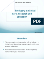 1 Role of Industry in Clinical Care 20141021 (1)