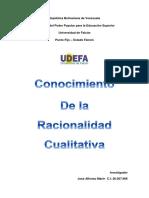 Racionalidad Cualitativa... Proyecto de Investigacion II