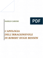 L'apologia dell'irragionevole di Robert Hugh Benson