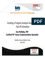 Apr 2013 Tech Webinar Sched Analysis With P6 1