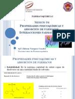 FCOQI_Sesión 04_Propiedades Fisicoquimicas y Absorcion de Farmacos