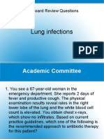FM Board Review Questions - Lung Infections