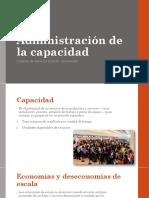 07 Administración de La Capacidad