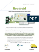 Roadroid Quick Start - Ver 1.2.1 Nov 13