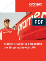 Shipping Services API Manual