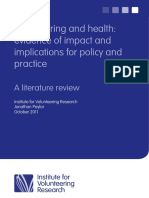 Volunteering and Health Literature Review