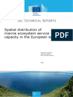 Spatial Distribution of Marine ES Capacity in European Seas