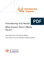 Volunteering and Health