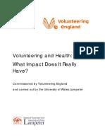 Volunteering and Health