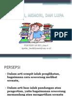 Persepsi Memori Dan Lupa