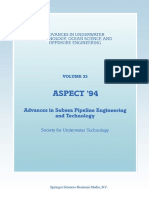 Aspect '94 Advances in Subsea Pipeline Engineering and Technology